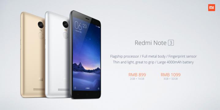 Precios del Xiaomi Redmi Note 3